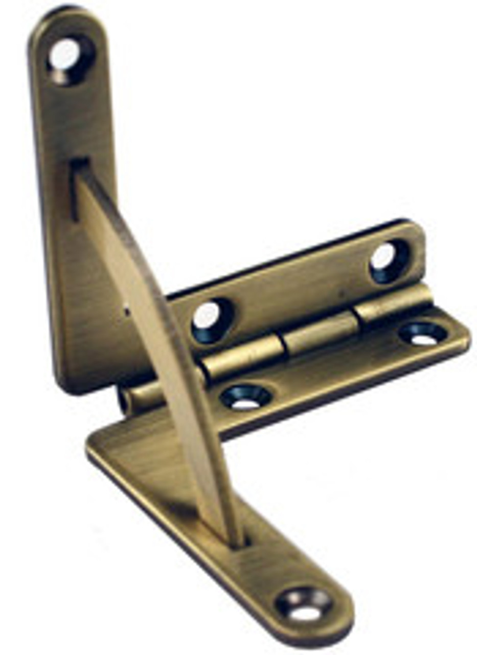 Quadrant Antique Brass Hinges Solid Brass