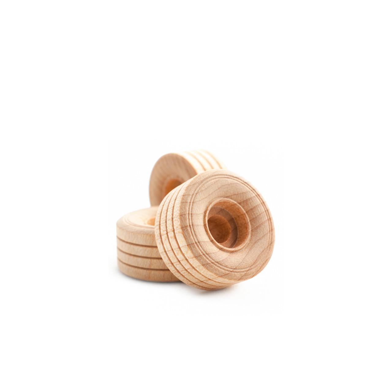 1 Inch Treaded Maple Toy Wheels
