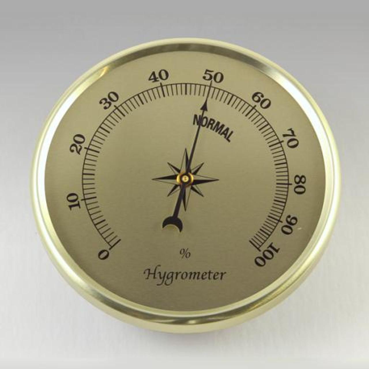 Gold Hygrometer Insert/Fit Up