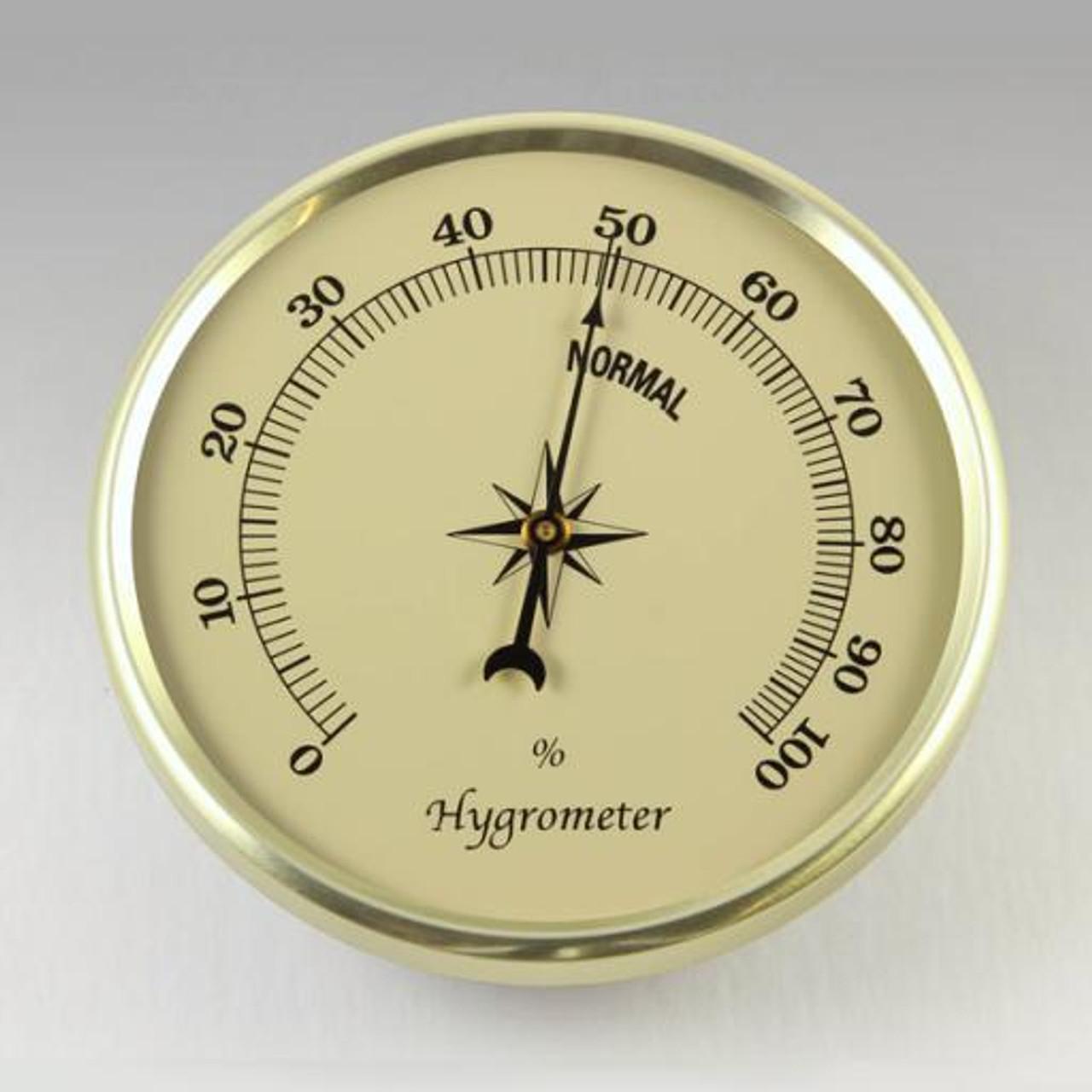 2-3/4 ivory hygrometer