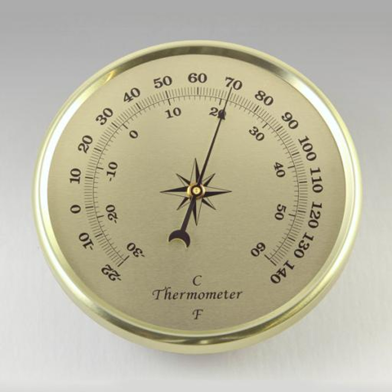 2-3/4 gold thermometer