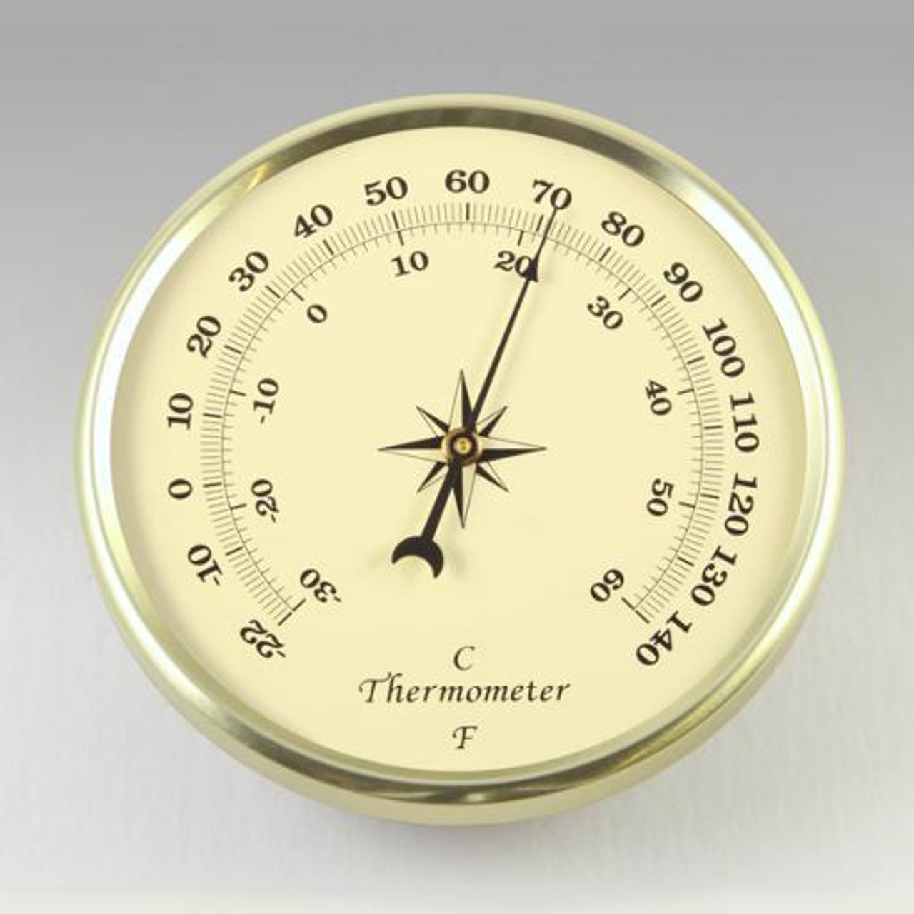 2-3/4 ivory thermometer
