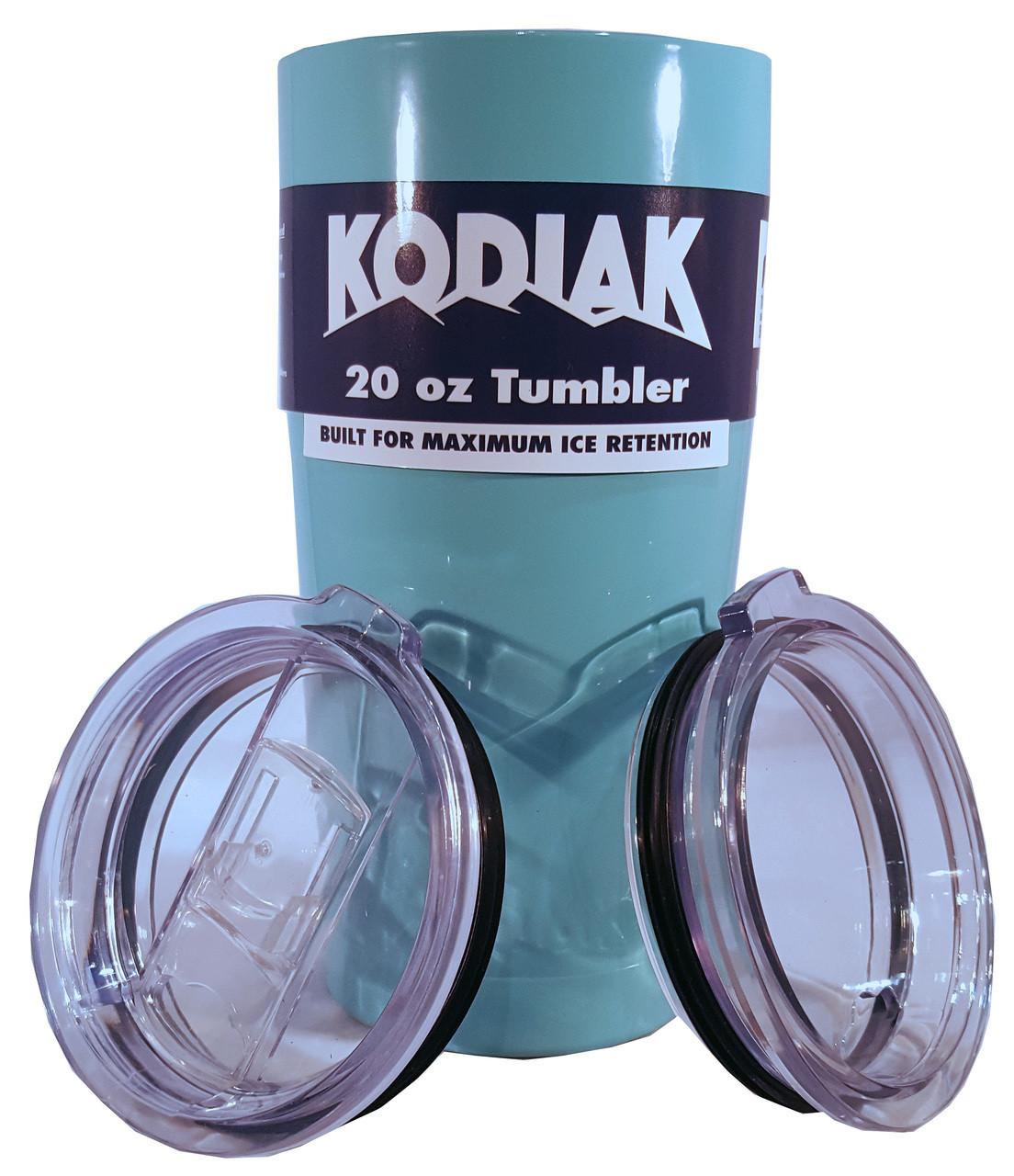 CLEARANCE - 20oz Kodiak Tundra Tumbler w/ 2 Lids - Powder Coated Stainless - FREE SHIPPING!