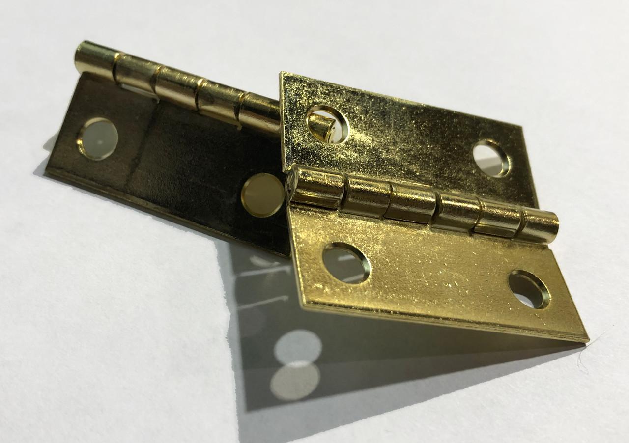1-1/2 x 1-3/8 Brass Plated Butt Hinge