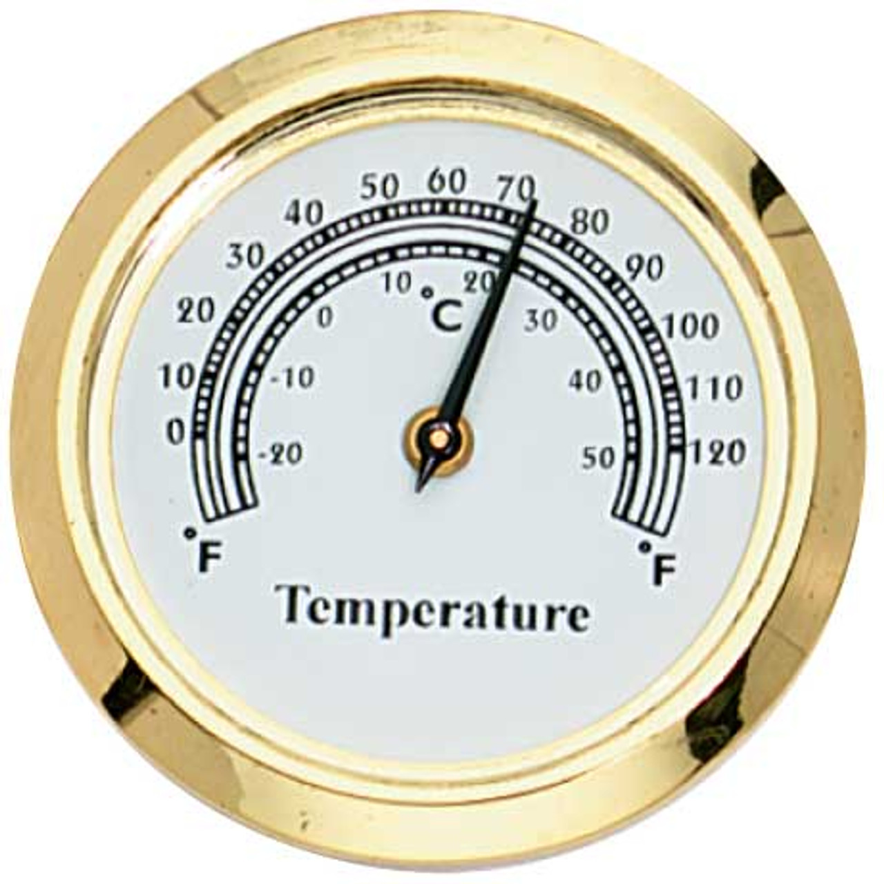 """1 7/16"""" (36mm) White Mini Thermometer Insert/Fit Up"""