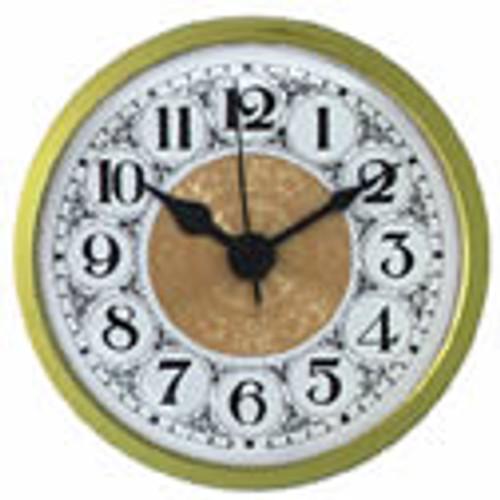 White Fancy Face Arabic 2-3/4 clock insert