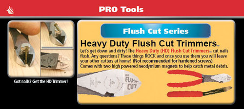Heavy-duty Flush Cut Trimmers Pliers
