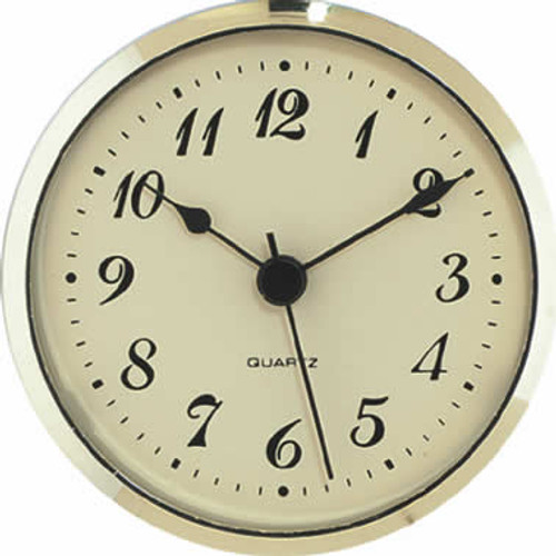 3-1/2 (90mm) Arabic Gold Face Clock Insert/Fit Up