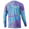 HUK Tie Dye Pursuit  Long Sleeve Shirt H1200330-444 Blue Radiance CHOOSE YOUR SIZE!