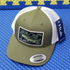 HUK KC Through The Weeds Refraction Trucker Hats One Size Fits Most H3000278-344-1 Kalamata Olive