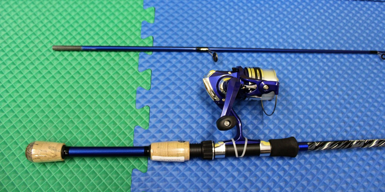 "Okuma Fin Chaser X Spinning Combo 6' 0"" Rod 2 Piece 30BL Reel Spooled  FNX-602-30BL"