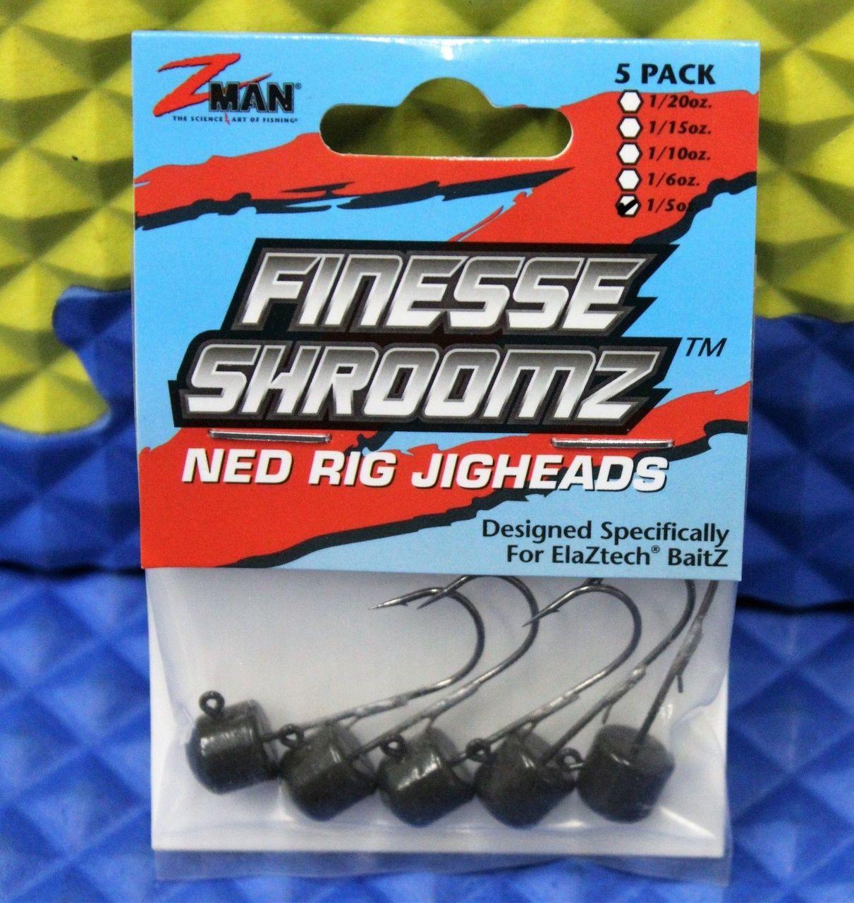 Z-MAN FJH115-01PK5 3070-0906 Finesse ShroomZ Fishing Equipment