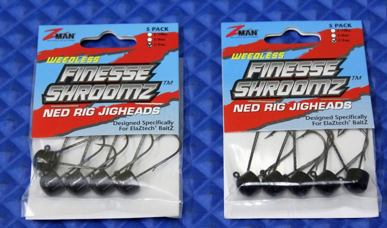 Z-Man ShroomZ Micro Finesse Jig 3//16oz 2-pack Mixed Colors 10 Jigs Total L2B 5