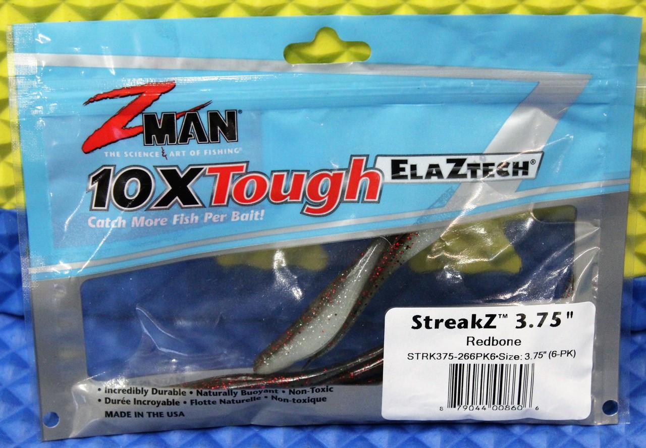 """Z-MAN 10XTough ELAZTECH StreakZ 3.75"""" 6-Pack STRK375-PK6 CHOOSE YOUR COLOR!"""