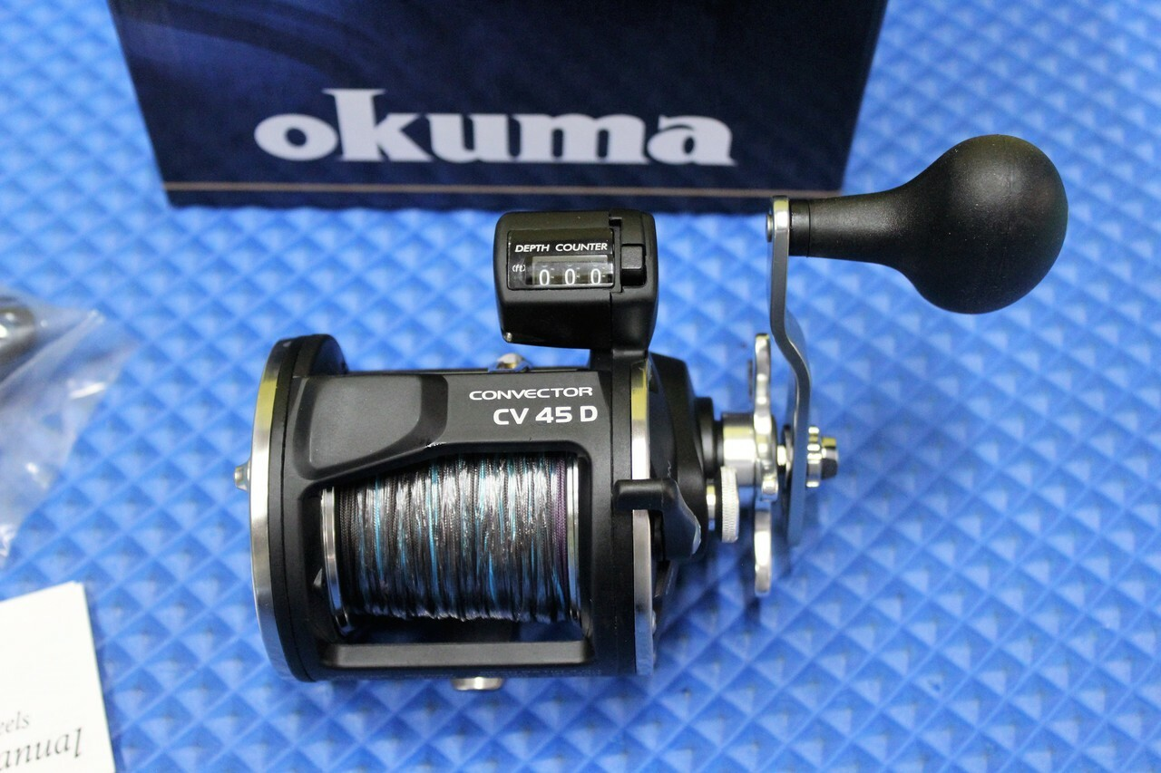 Okuma Convector CV 45L Levelwind Reel Pre-Spooled With Lead Core