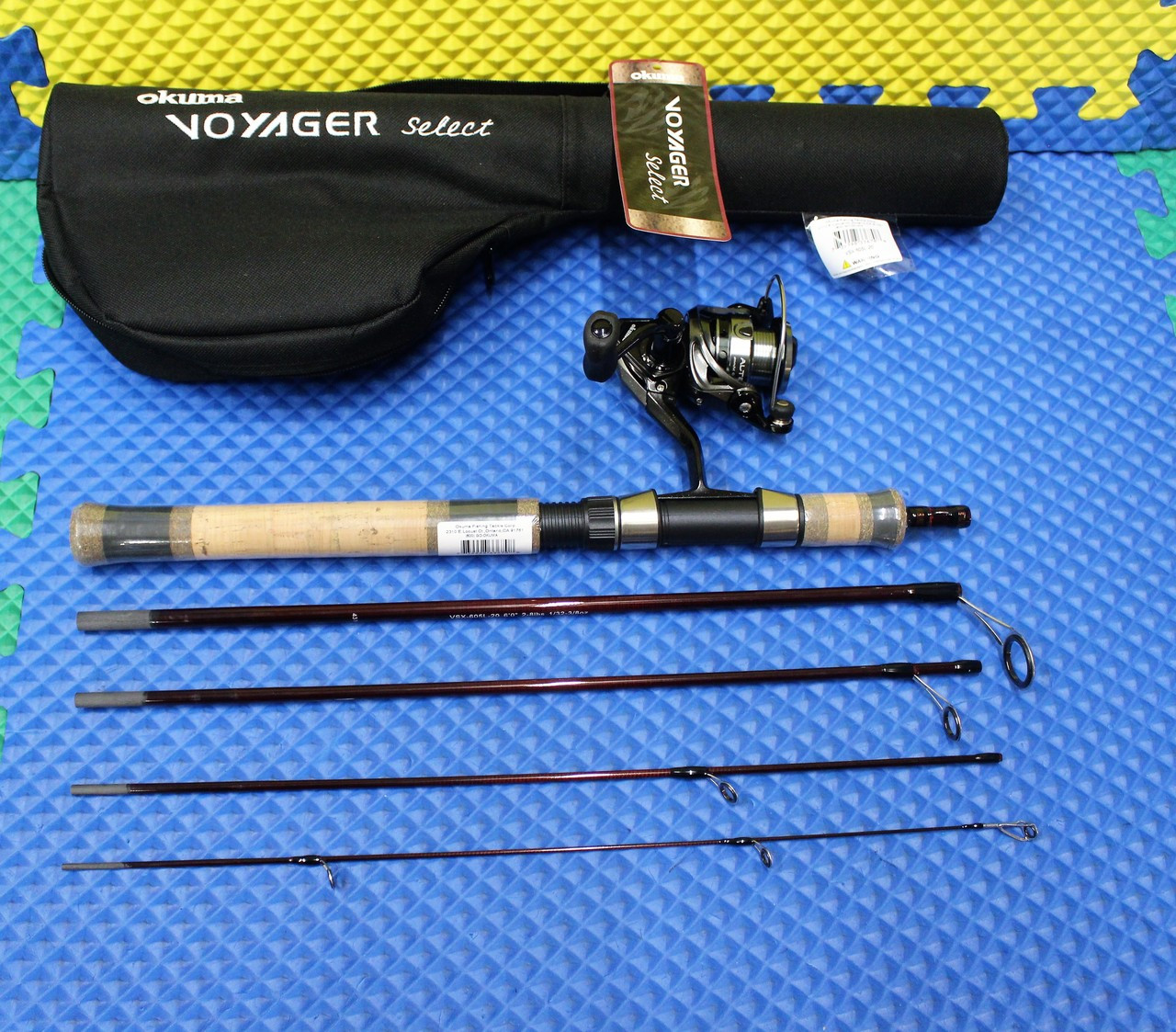 "Okuma Voyager Select Spinning Travel Kit Combo 6' 0"" Rod Light ATE-20 Reel VSX-605L-20"