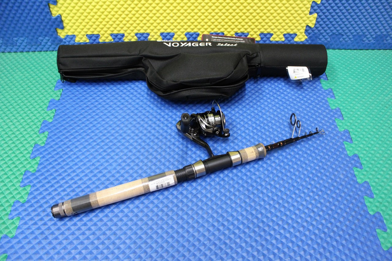 "Okuma Voyager Select Spinning Travel Kit Combo 6' 0"" 1-Piece Telescopic Rod Medium Light ATE-20 Reel VSX-601ML-20-T"