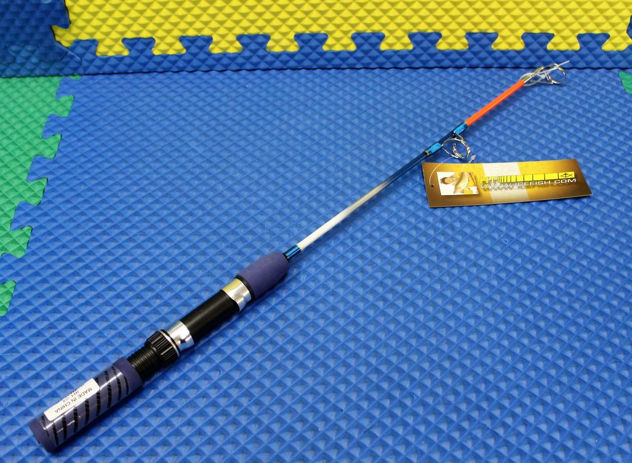 """New HT Ice Blue Jigging Spinning Rod 24/"""" Med IBM-24S"""