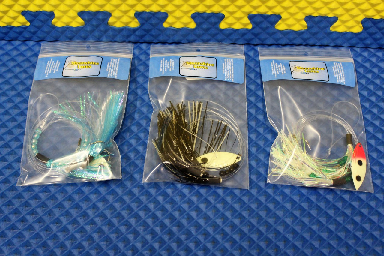 Moonshine Lures Tri-Fly CHOOSE YOUR COLOR!