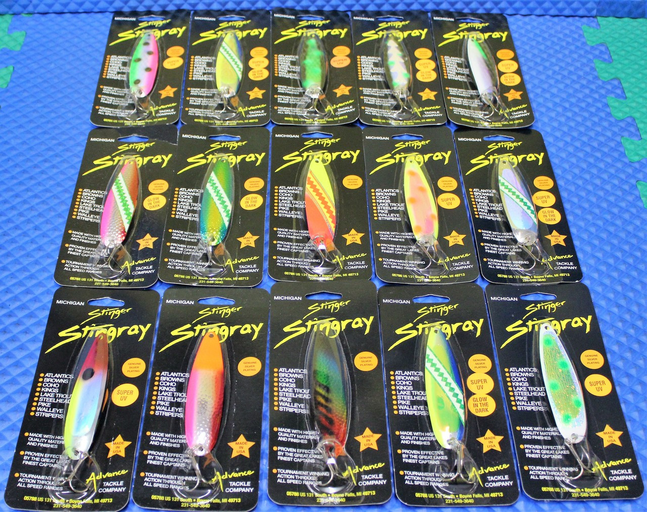 Michigan Stinger Stingray Spoons CHOOSE YOUR COLOR!