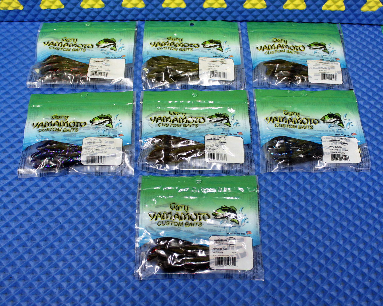 Gary Yamamoto Custom Baits 5 Pack Psycho Dad 3K-05 Series CHOOSE YOUR COLOR!