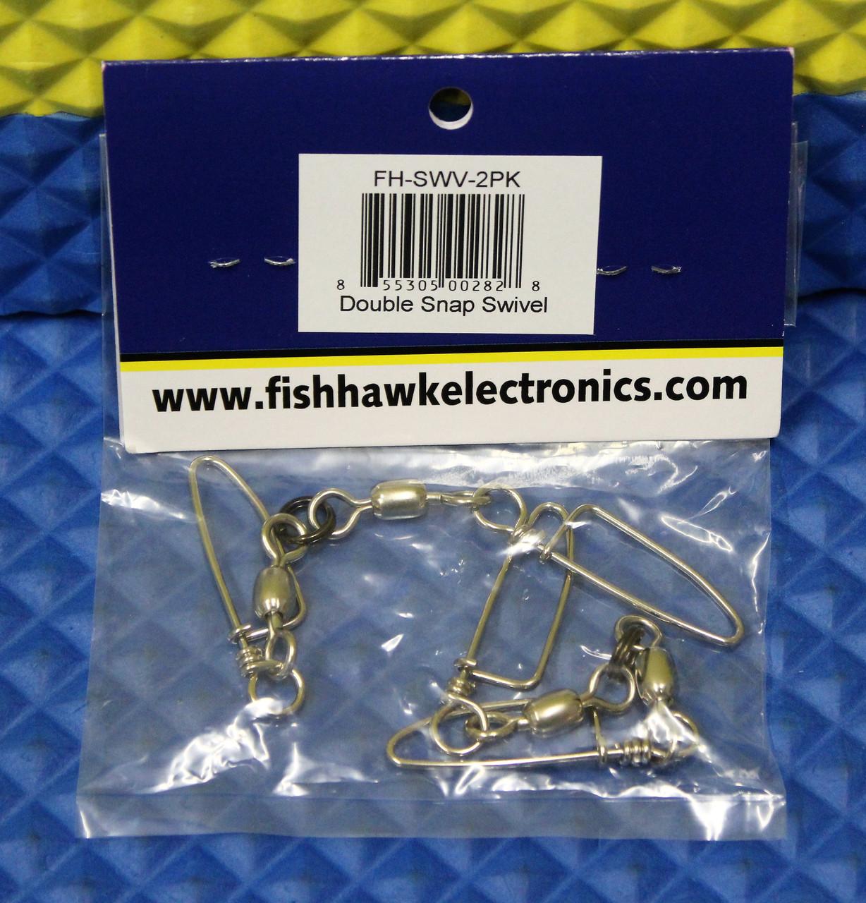 FISH HAWK ELECTRONICS DOUBLE SNAP SWIVEL FH-SWV-2PK