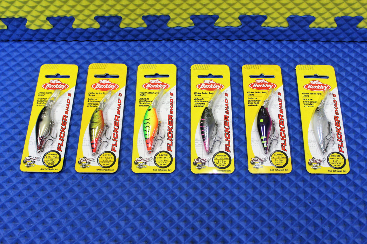 Berkley Flicker Shad 5 Dives 9'-11' Slow Rise FFSH5M Series CHOOSE YOUR COLOR!