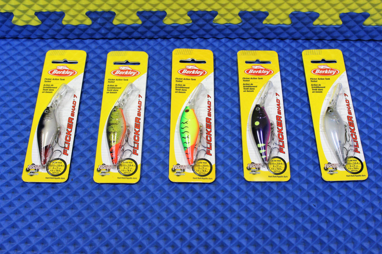 Berkley Flicker Shad 7 Dives 11-13' Slow Rise FFSH7M Series CHOOSE YOUR COLOR!