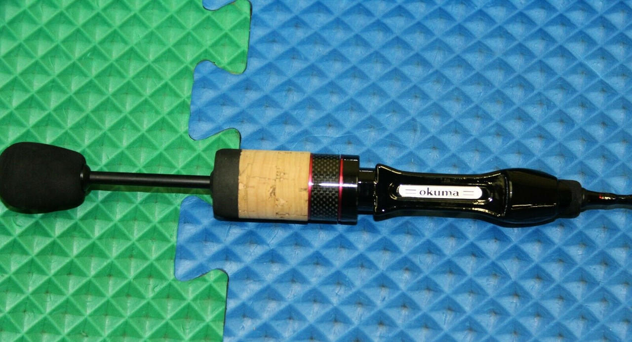"""Handle Style """"A"""": Cork and EVA split grip with custom exposed blank reel seat"""