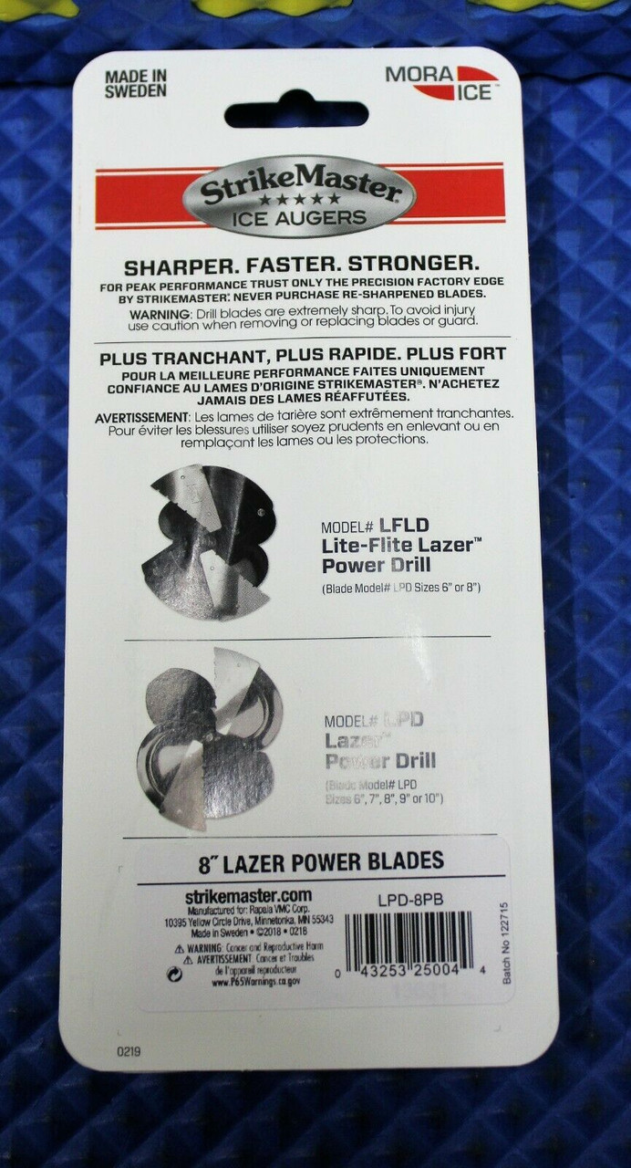 StrikeMaster Ice Augers MORA Lazer Power Replacement Blades CHOOSE YOUR SIZE!