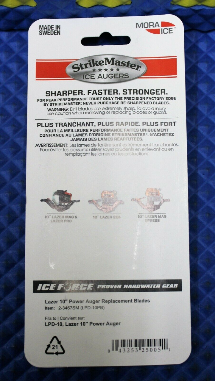 "NEW Strikemaster Replacement Blades 10/"" For Lazer Power Auger LPD-10PB"