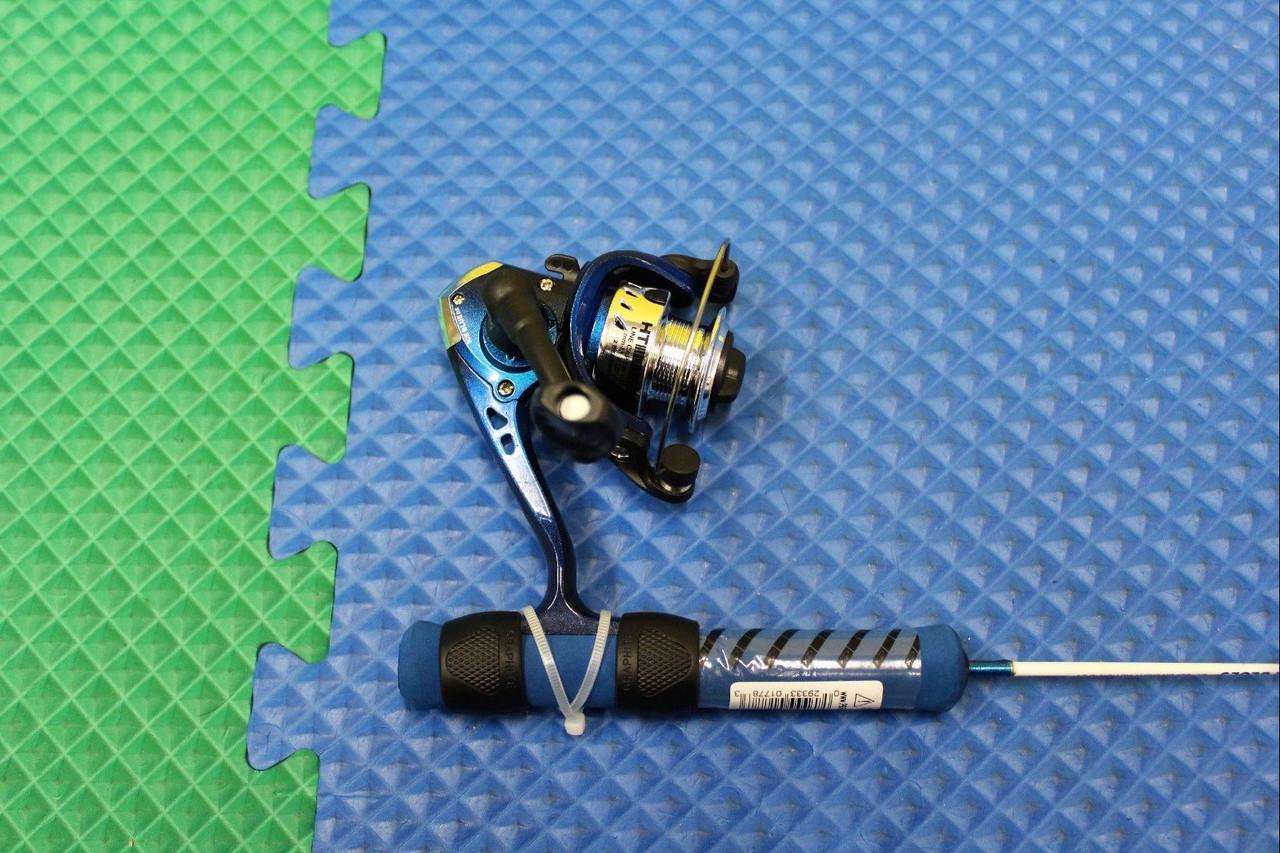"HT Ice Blues 24/"" Super Light Ice Fishing COMBO With IB-102 2BB Reel IB-24SC"