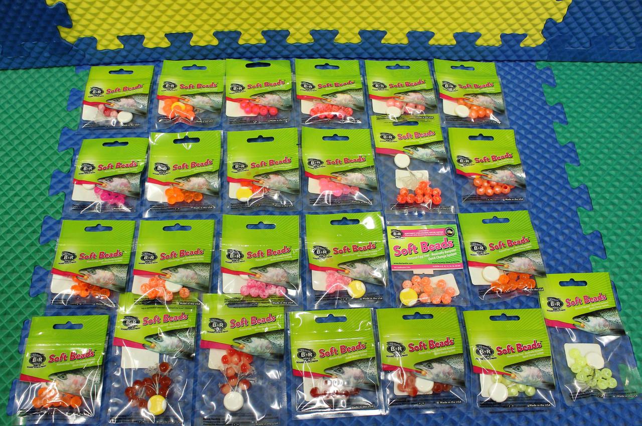 BnR Tackle Soft Beads 8 MM 15-Pack CHOOSE YOUR COLOR!