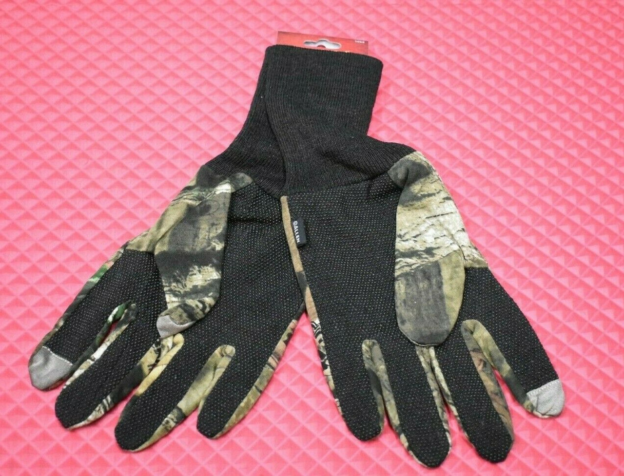 ALLEN Dot Grip Touchscreen Fingertip Jersey Gloves Mossy Oak Break Up #1453