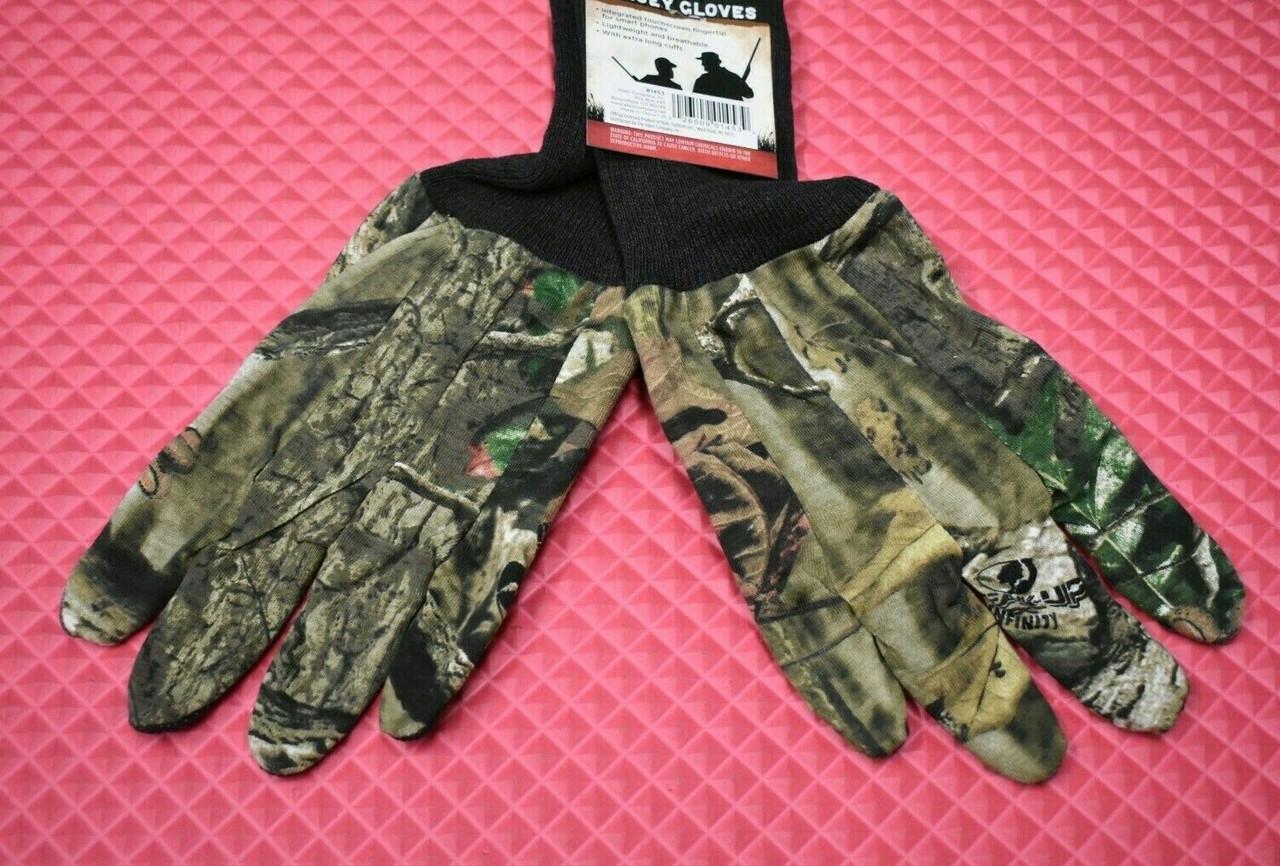 ALLEN Dot Grip Touchscreen Fingertip Jersey Gloves Mossy Oak Break Up 1453-B