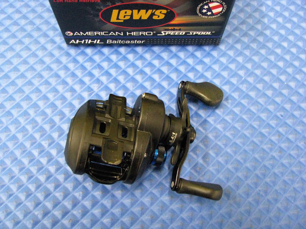 Lews AH1HL American Heroes Speed Spool Left Hand Baitcasting Fishing Reel