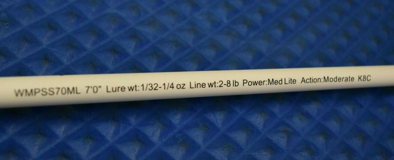 "Lew's Wally Marshall Pro Series IM8 Graphite 7' 0"" Medium Light Mod Spinning Crappie Rod WMPSS70ML"