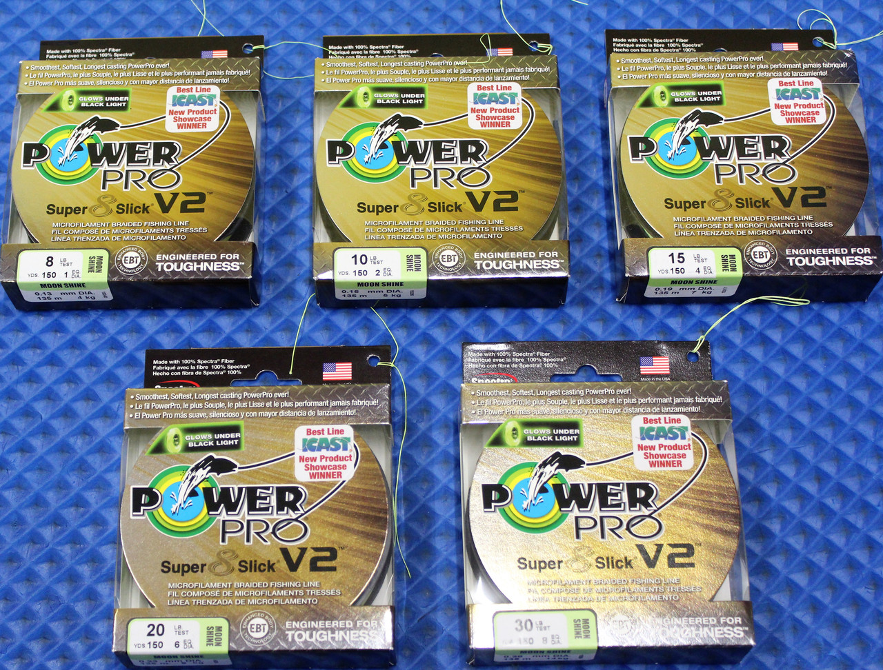 PowerPro Super 8 Slick V2 Spectra Micro Braided Fishing Line 150 Yard Moon Shine CHOOSE YOUR LINE WEIGHT