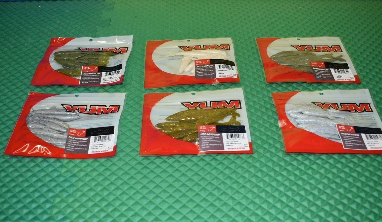 """Yum 3"""" Ned Minnow 8 Pack YMN3 Series CHOOSE YOUR COLOR!"""