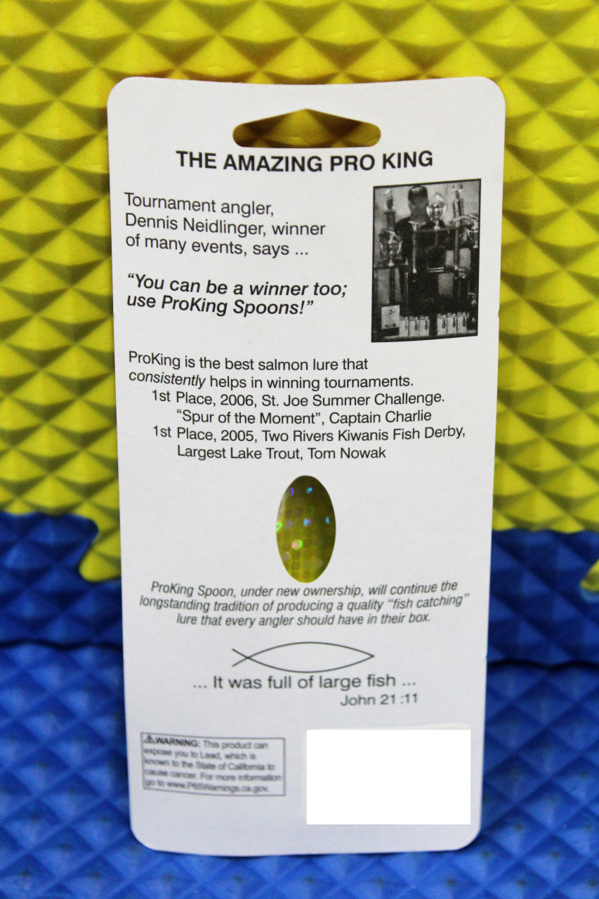 """Pro King Regular Spoons 3-3/4"""" CHOOSE YOUR COLOR!"""