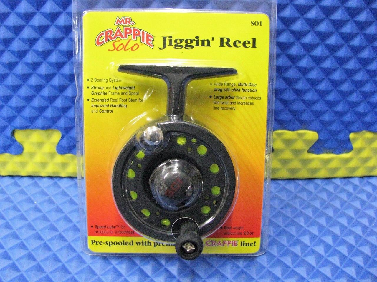 Mr. Crappie Solo Jiggin' Reel Pre-spooled With Premium Hi-Vis Yellow Line SO1