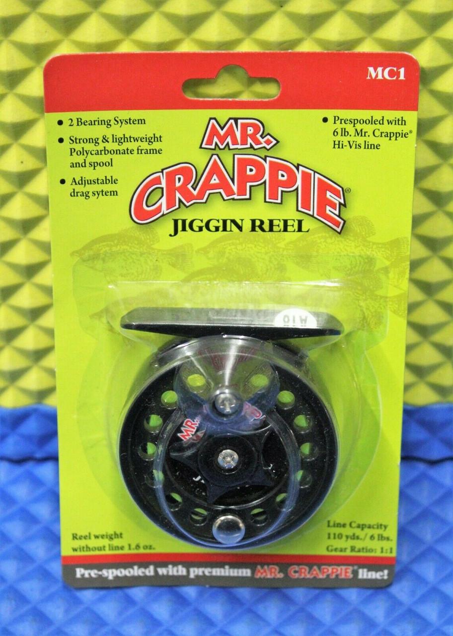 Lew's Mr Crappie Jiggin Reel Pre-spooled With 6lb. Mr Crappie Hi-Vis Yellow Line MC1