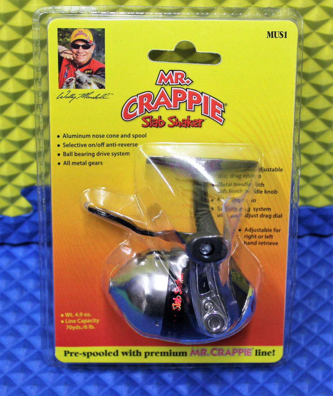 Mr. Crappie Slab Shaker UnderSpin Crappie Reel Pre-spooled With Premium Line MUS1