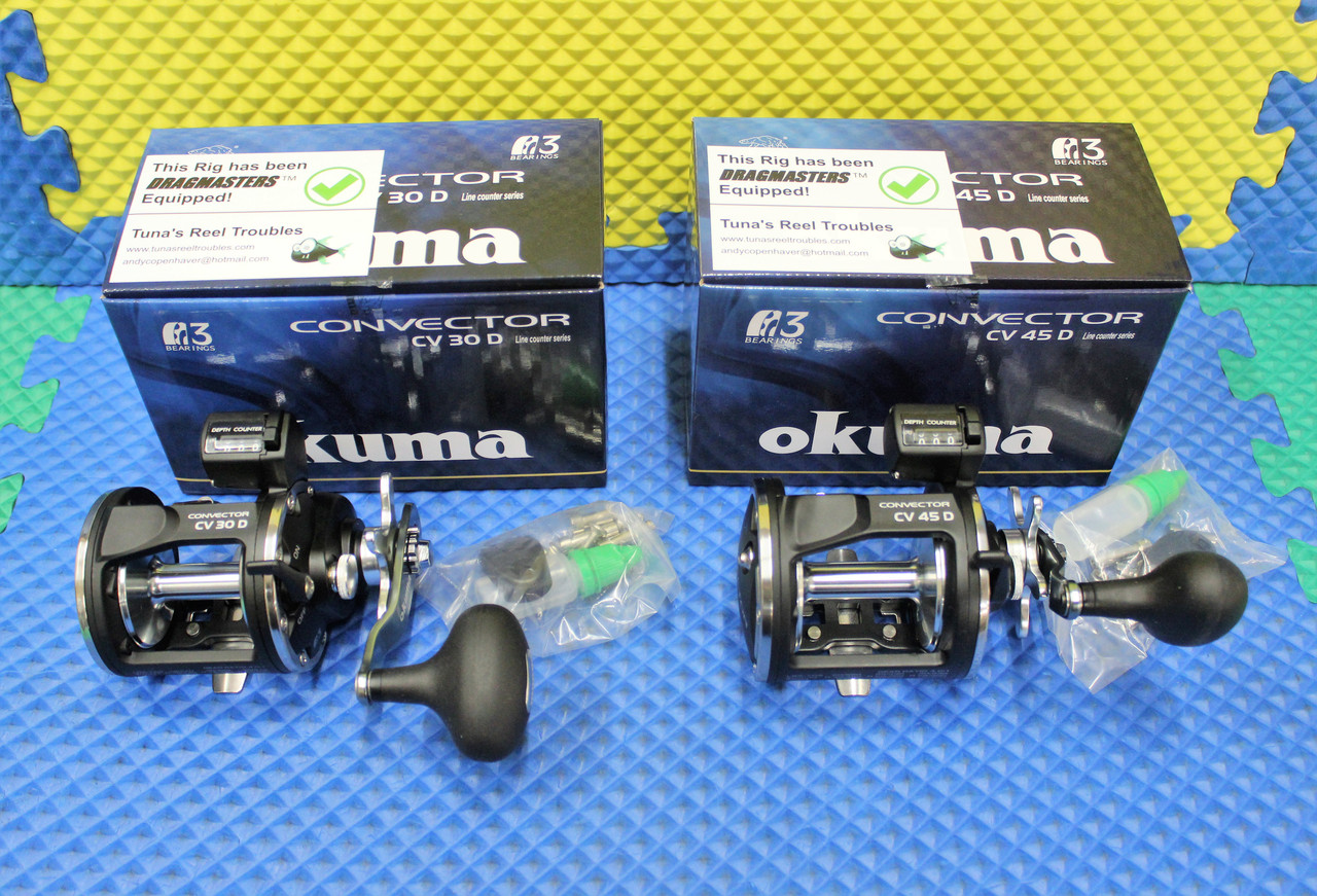 Okuma Convector Line Counter Trolling  Reels With Dragmasters Washers CHOOSE YOUR MODEL!