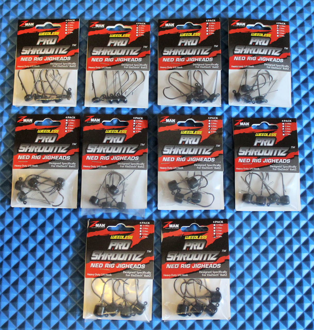 NEW PRODUCT Z-Man PRO SHROOMZ Jigheads Color Choose Size
