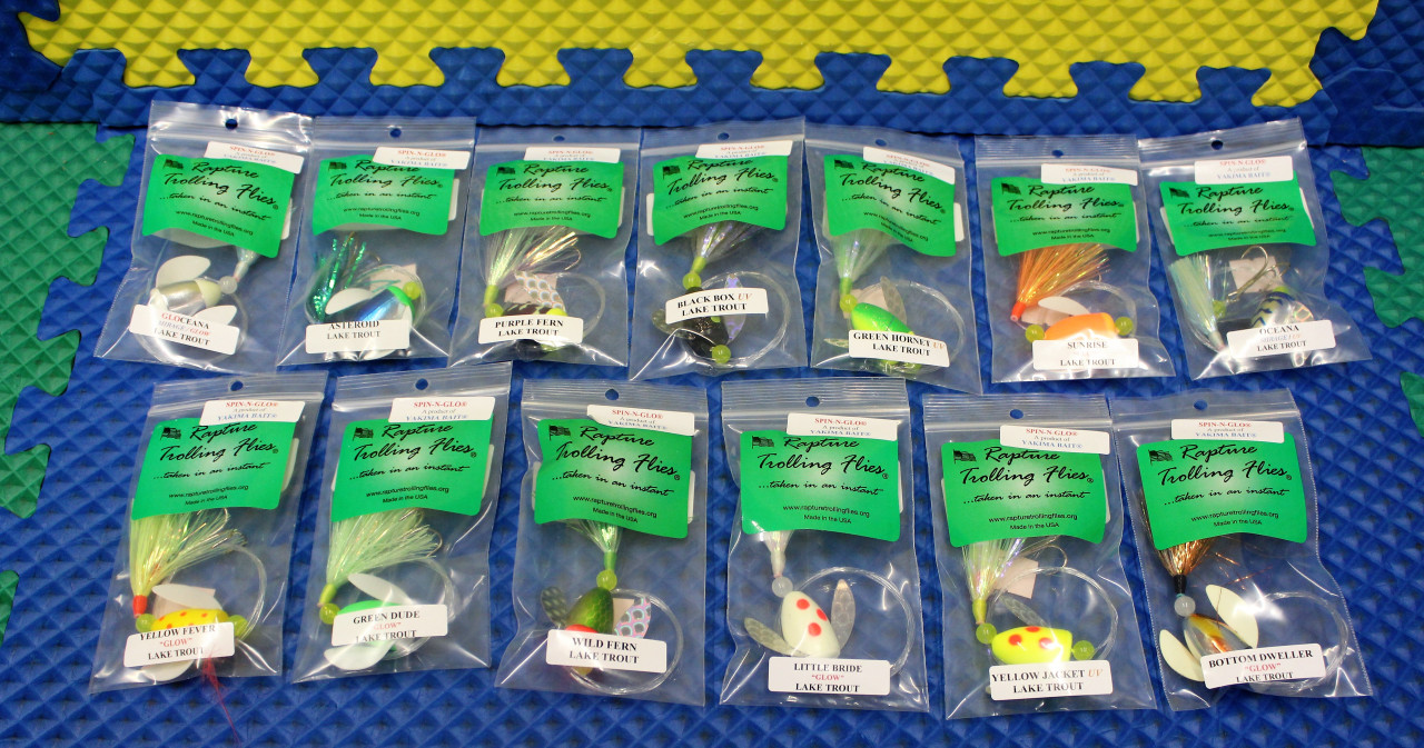 Rapture Trolling Flies Lake Trout Spin-N-Glow By Yakima Bait With Spin-N-Glo Drift Bobber 1-Treble Hook CHOOSE YOUR COLOR!