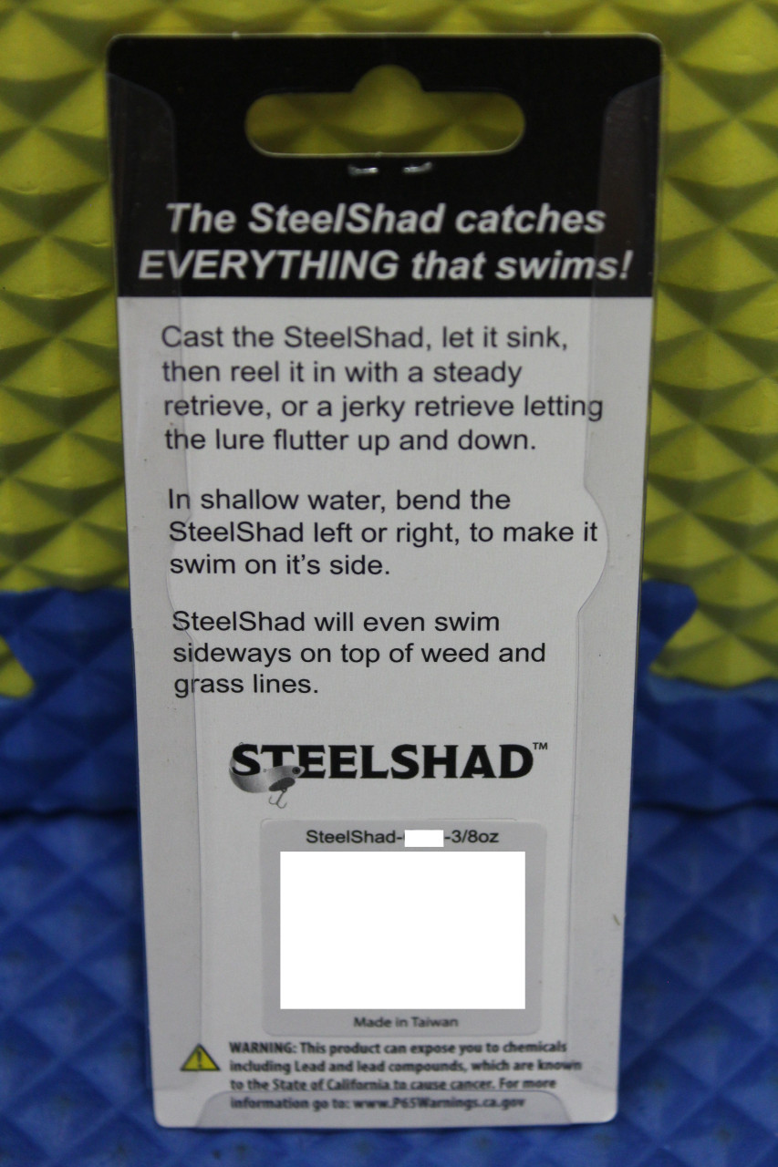 """The Original SteelShad Fishing Lure SS 3/8 OZ 2-3/4"""" CHOOSE YOUR COLOR!"""