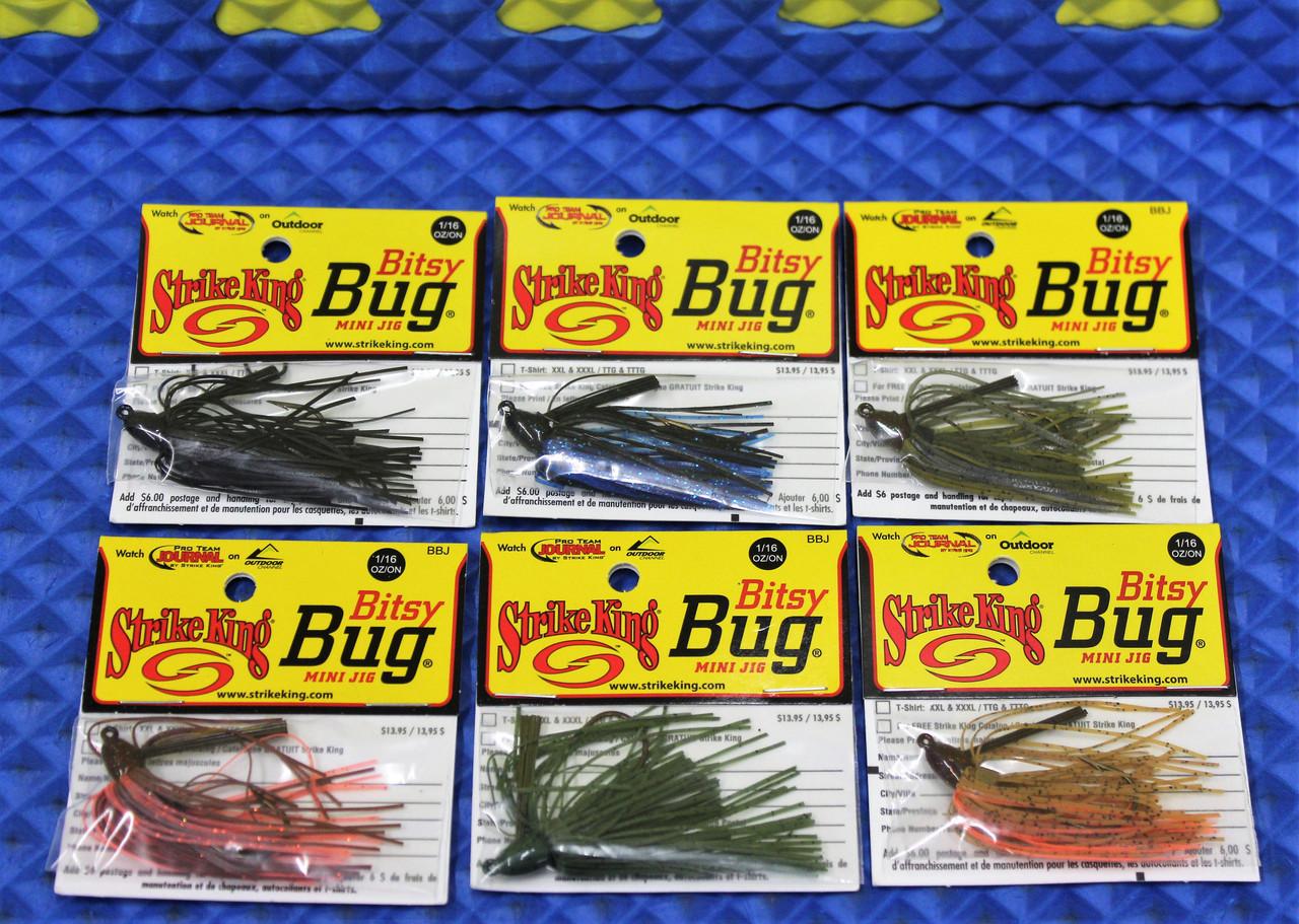 Strike King Bitsy Bug Jig 1//16 oz Quick Shipping