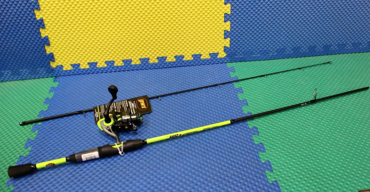 """Lew's Hypersonic Speed Spin Combo 6' 6"""" Rod HS300 Reel HS3066M-2"""