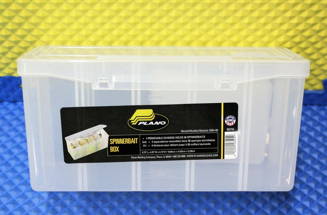 PLANO Spinnerbait Box With Removable Dividers Model 3504-00 933750